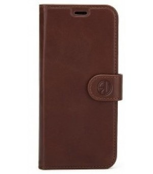 Rico Vitello Genuine Leather Wallet iPhone XS Max Donker Bruin