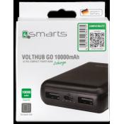 4Smarts Power Bank VoltHub Go 10000 mAh Zwart