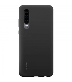Huawei Silicone Car Case P30 Zwart