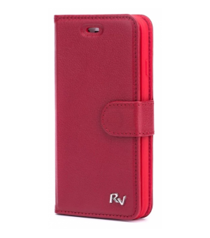 Rico Vitello Genuine Leather Wallet iPhone X / XS Rood