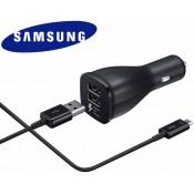 Samsung Dual Snelle Autolader +  Type-C Kabel EP-LN920B Zwart