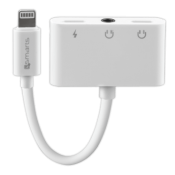4Smarts Audio and Charging Splitter Lightning to 2x Lightning + 3.5 mm Aux Wit