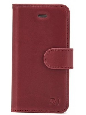 Rico Vitello Genuine Leather Wallet iPhone 8 / 7 - Bordeaux Rood