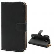 PH Samsung Galaxy Alpha Leather Wallet Case - Black