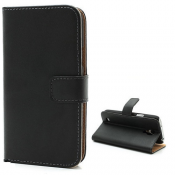 PH Nokia Lumia 1020 Leather Wallet Case - Black