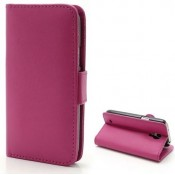 PH Samsung Galaxy Alpha Leather Wallet Case - Pink