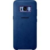 Samsung Galaxy S8 Alcantara Cover - Blauw