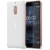 Nokia Carbon Fibre Case White - Nokia 6