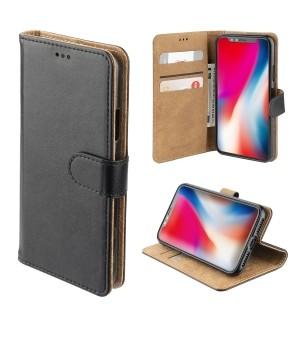 4smarts Premium Wallet Case URBAN iPhone Xs Max Zwart