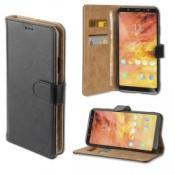 4smarts Premium Wallet Case URBAN Galaxy A6+ Zwart