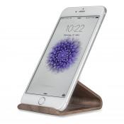 4smarts Basic Wood Stand voor Alle smartphones Donkerbruin