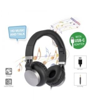 4smarts Stereo Headset Eara One met USB-C & 3,5mm aansluiting Zwart