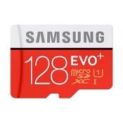 Samsung EVO Plus 128GB MicroSDHC Card + SD-adapter Class 10