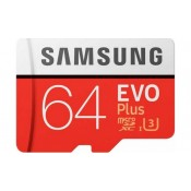 Samsung EVO Plus 64GB MicroSDHC Card + SD-adapter Class 10
