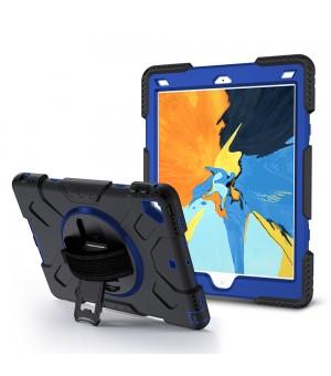 Case met handstrap iPad 9.7 2017 / 2018 Zwart met Blauw