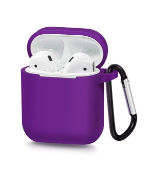 Silicone Case voor Apple Airpods Paars