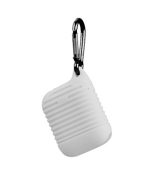 Silicone Protective Case voor Apple Airpods Wit