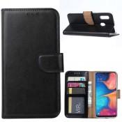PM - Book Case  Galaxy A20e - Zwart