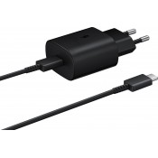 Samsung 25W USB-C Snellader EP-TA800 met USB-C Kabel Zwart