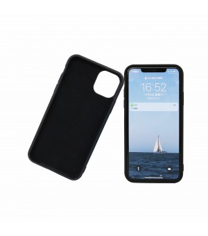 Silicone Hoes iPhone 11 Zwart