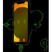 4smarts VoltBeam Sensor 2 Draadloze Snellader Autohouder 15W Zwart
