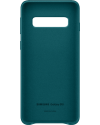Samsung Galaxy S10 Leather Cover Groen