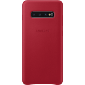 Samsung Galaxy S10 Plus Leather Cover Rood
