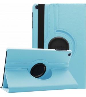 PM 360 Rotating Stand & Case Galaxy Tab A T510/T515 Licht Blauw