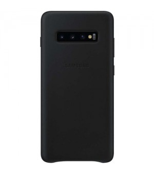 Samsung Galaxy S10 Plus Leather Cover Zwart