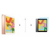 Apple iPad 2019 10.2 32GB WiFi Goud + Apple Pencil 1e Generatie + Screen Protector