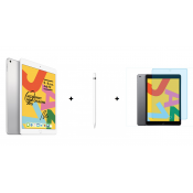 Apple iPad 2019 10.2 32GB WiFi Zilver + Apple Pencil 1e Generatie + Screen Protector