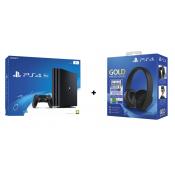 Sony Playstation 4 Pro 1TB Zwart + Sony PlayStation 4 Gold Wireless Headset + Fortnite VCH Hoofdband Zwart