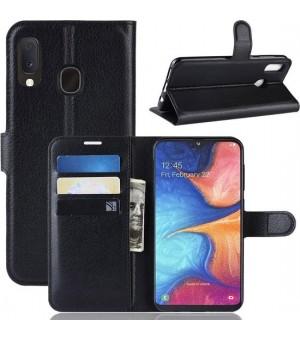 PM Book Case Samsung Galaxy A40 Zwart