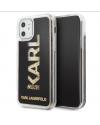 Karl Lagerfeld Glitter Back Cover iPhone 11 Zwart