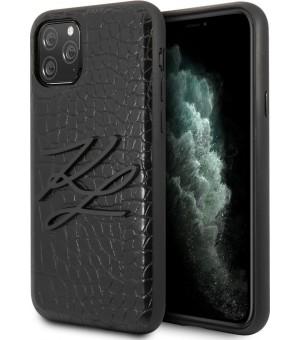 Karl Lagerfeld Croco Back Cover iPhone 11 Pro Zwart