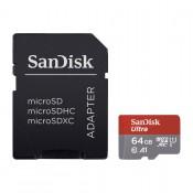 Sandisk Ultra A1 MicroSD Geheugenkaart 64GB Inclusief Adapter