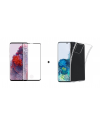 PM Transparant Siliconen Hoes + Screen Protector Samsung Galaxy S20 Plus