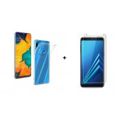 PM Transparant Siliconen Hoes + Screen Protector Samsung Galaxy A20e