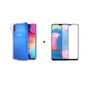 PM Transparant Siliconen Hoes + Screen Protector Samsung Galaxy A30s