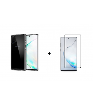 PM Transparant Siliconen Hoes + Screen Protector Galaxy Note 10 Plus