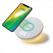 4Smarts Draadloze Oplader Voltbeam N8 met Klok en LED Licht 10W Wit