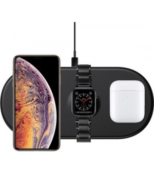 Baseus Smart 3in1 Wireless Charger Zwart