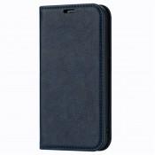 Rico Vitello Magnetic Book Case iPhone 12 Donker Blauw