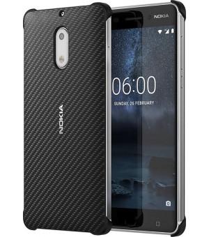 Nokia 6 Carbon Fibre Case Zwart