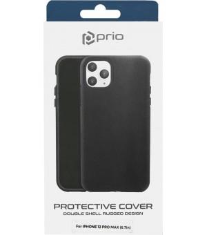 Prio Protective Cover iPhone 12 Pro Max Zwart