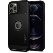 Spigen Rugged Armor Case iPhone 12 Pro Max Zwart