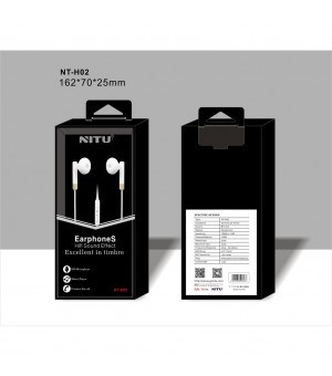 NITU NT-H02 STEREO WIRED HEADSET WIT