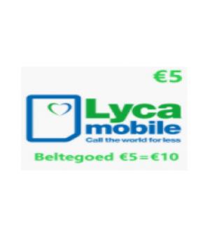 Lyca Beltegoed €5 = €10