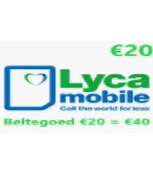 Lyca Beltegoed €20 = €40