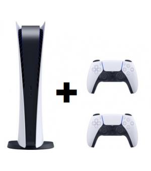Sony Playstation 5 Digital Edition 825GB Wit + DualSense Draadloze Controller Wit